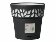 Obal na květník CLOE samozavlažovací plast antracit d25x25cm