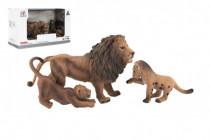 Zvieratká safari ZOO 13cm sada plast 3ks lev 2 druhy