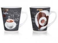 hrnek 360ml COFFEE, keramický - mix variant či barev