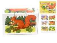 Kocky kubus Lesné zvieratká drevo