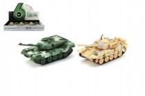 Tank plast / kov PB 16cm na spätné natiahnutie - mix farieb