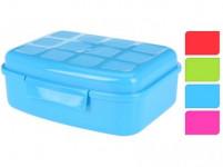 box desiatový 18,5x13,7x6,8cm s klick uz. plastový - mix farieb