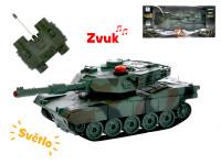 R/C tank 16,5 cm 1:32 27 MHz na baterie plná funkce 10 kanálů se světlem a zvukem
