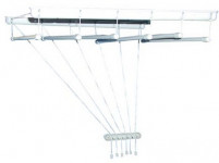 sušiak stropový IDEAL 130cm 6 tyčí plastový + kov. Bi