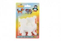 Podložka na zažehľovací korálky slon, tučniak, psík plast