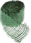 Jutová stuha 4 cm x 3 m - tmavo zelená