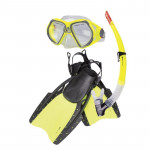 Spokey Reef sada brýle+šnorchl+ploutve S/M 38-41