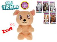 Mini Tickles plyšové zvieratko 16 cm na batérie so zvukom a smejúci sa - mix variantov či farieb