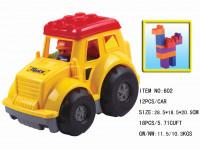 Traktor plastový s kostkami 12 ks