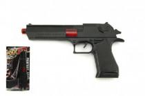 Pistole jiskřící plast 26cm na setrvačník