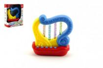 Harfa plast 11cm na baterie se zvukem se světlem