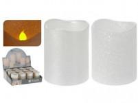 sviečka LED pr.5x6,5cm Bi