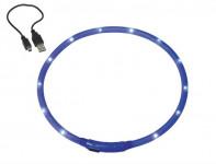 Obojok plast svietiace - modrý, dobíjanie USB Nobby 70 cm