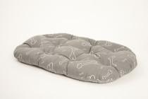 Vankúš ovál Kosť sivo/biely (bavlna) 60 cm