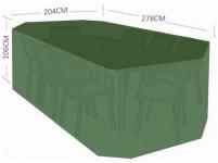 plachta krycia na set 8 stoličiek + obdĺž. stôl 278x204x106cm PE 110g / m2