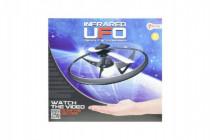 UFO lietajúci prstenec s USB káblom plast na batérie svietiace - mix farieb