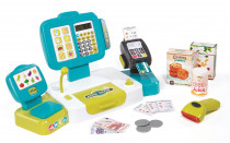 Pokladňa elektronická s váhou modrá