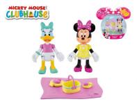 Minnie a Daisy figurky kloubové 8 cm 2 ks s piknikovými doplňky