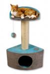 Škrábadlo Riggoletto IImint/šedá s bambulkou