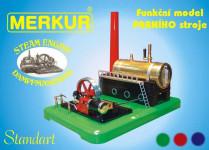 Stavebnica MERKUR funkčný model parného stroja Standart