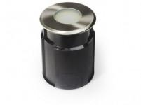 svietidlo LED zápustné pr.11cm 4,0W, IP67 teplé, do krajiny, betónu