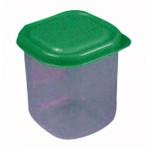 dóza štvorcová 0,20l plastová (6x6x8cm) - mix farieb