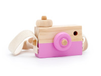 Foťák - drevená montessori hračka, ružová