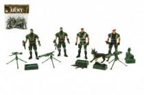 Sada vojaci 4ks s doplnkami plast CZ dizajn na karte 18x19,5cm