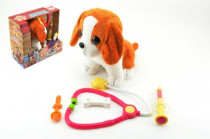 Pes štěňátko interaktivní nemocný plyš 22cm