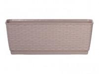 Truhlík RATOLLA P plastový hnedo sivý 50cm
