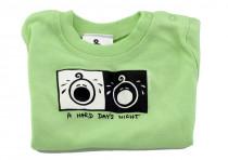 Dětské tričko Mayaka s krátkým rukávem A Hard Day´s Night - zelené Vhodné pro věk 6-12 měsíců - VÝPREDAJ
