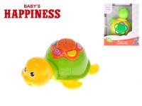 Želvička 12 cm na baterie s melodiemi a projektorem Baby´s Happiness - mix barev