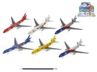 Letadlo 19,5 cm kov zpětný chod - mix variant či barev