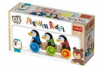 Tučniaky na kolieskach drevené 3ks Wooden Toys 12m +