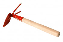 Kultivátor s nás. 27 cm - srdcová 2 hroty - oranžová