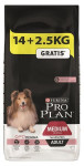 PRO PLAN Dog Adult Medium Sensitive Skin 14+2,5 kg zdarma