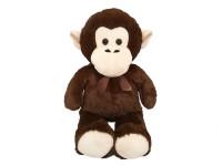 Opica plyšová 80 cm s mašľou