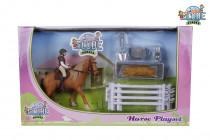 Hracia sada jazdkyne s koňom