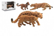 Zvieratká safari ZOO 12cm sada plast 2ks jaguár 2 druhy