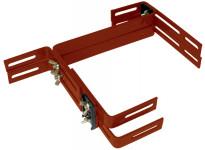 Držiak na truhlík balkón - kovový Fantázia Smart (Balconera) terakota (2ks) - 1 pár