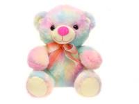 Medveď plyšový 23 cm sediaci s mašľou