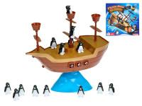 Hra Pirátska loď s balancujícími tučniakmi