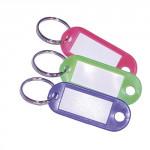 visačka na klíče 5,5cm plastová, malá ovál s kr. (50ks) - mix barev