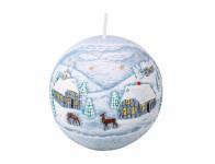 Sviečka ZIMA GUĽA vianočné d10cm