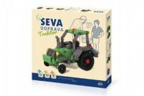 Stavebnica Seva Doprava Traktor plast 384 dielikov