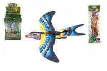 Lietadlo hádzací skladacie vták pena 18cm - mix farieb