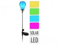 lampa solárne ŽIAROVKA 4LED v.75cm - mix farieb
