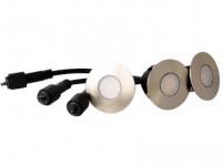 svietidlo LED zápustné pr.6cm, 1,2W, IP67 (3ks) teplé, do dreva, pochôdzne