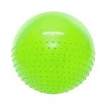 Spokey HALF FIT Fitlopta 2v1 masážne zelený, 65 cm vrátane pumpičky