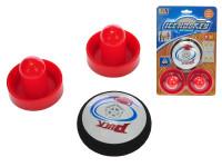 Air hokej puk 9 cm + 2 hokejky na batérie